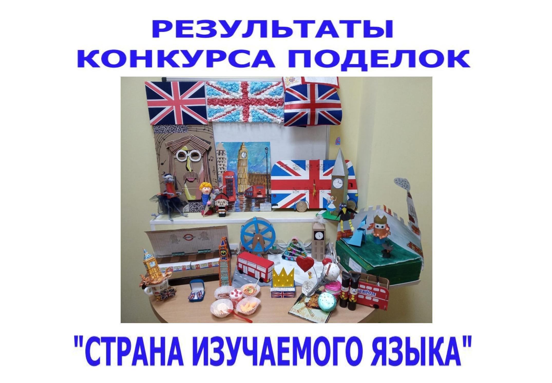 Готовы результаты конкурса поделок «Страна изучаемого языка»